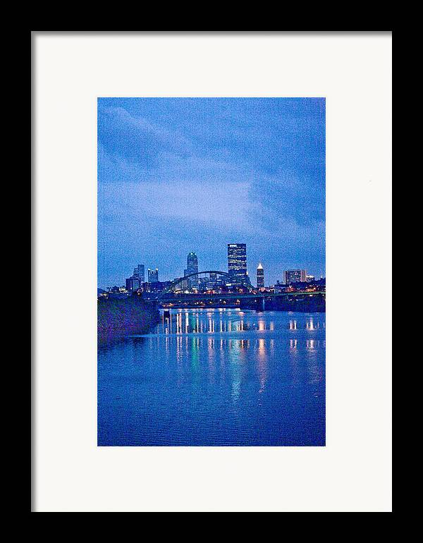 Pittsburgh Framed Print featuring the photograph Pittsburgh In Blue by John Toxey
