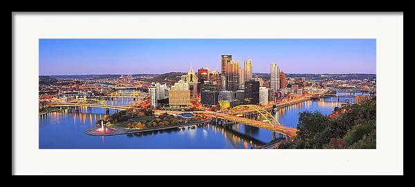 Steelers Framed Print featuring the photograph Pittsburgh Pano 22 by Emmanuel Panagiotakis