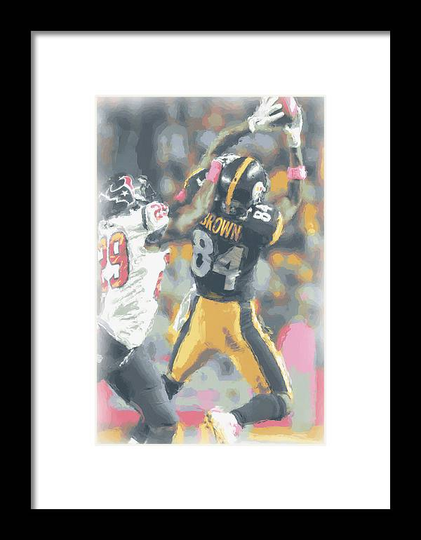 Pittsburgh Steelers Framed Print featuring the photograph Pittsburgh Steelers Antonio Brown 2 by Joe Hamilton