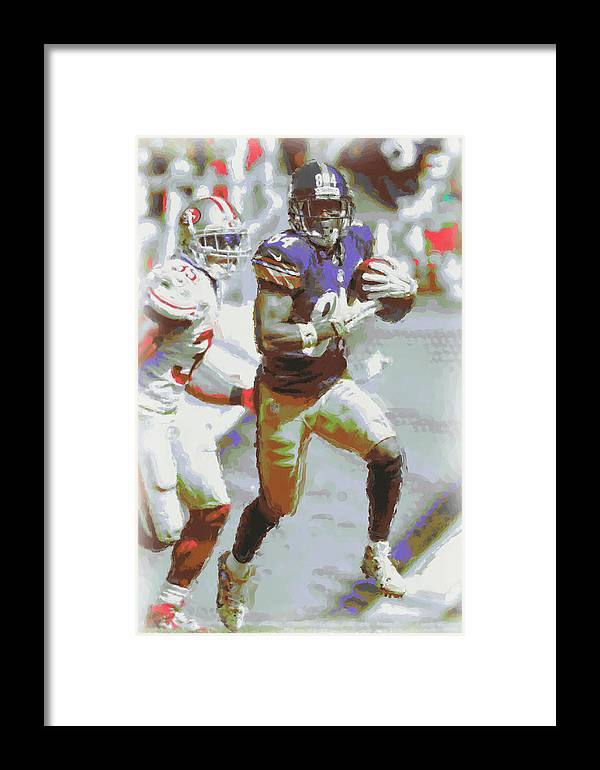 Pittsburgh Steelers Framed Print featuring the photograph Pittsburgh Steelers Antonio Brown 3 by Joe Hamilton