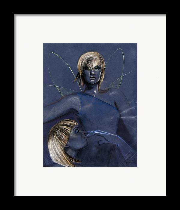 Pixie Framed Print featuring the pastel Pixie by Maryn Crawford