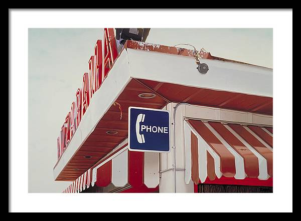 Diner Framed Print featuring the painting Pizzarama by Randy Ford