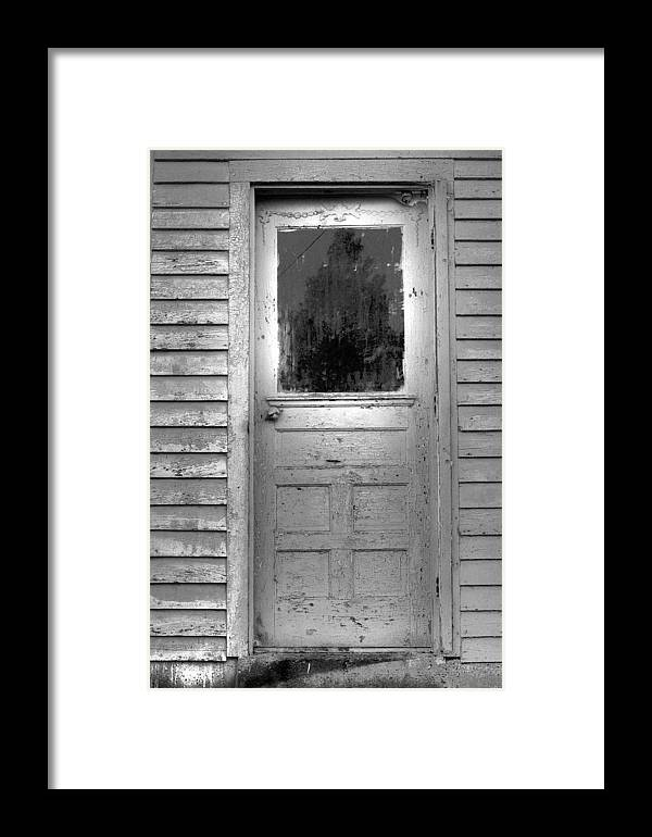 Black Framed Print featuring the photograph Places We Don't Go by Russell Middleton