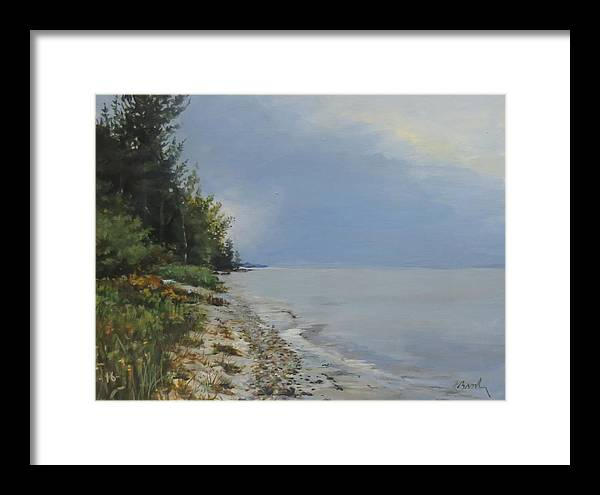 Lake Huron Framed Print featuring the painting Places We've Been by William Brody