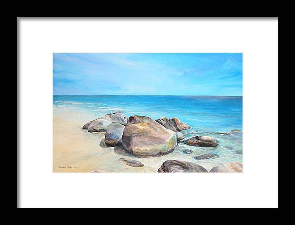Paysage Framed Print featuring the painting Plage by Muriel Dolemieux