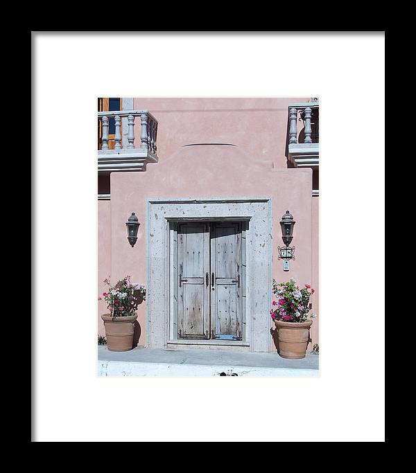 Door Framed Print featuring the photograph Plain Door by James Johnstone