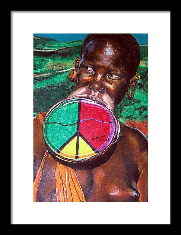 Africa Framed Print featuring the painting Plains Of Peace by Andre Ajibade