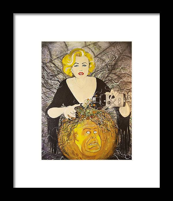 Marilyn Monroe Framed Print featuring the painting Plan 9 by Christopher Chouinard
