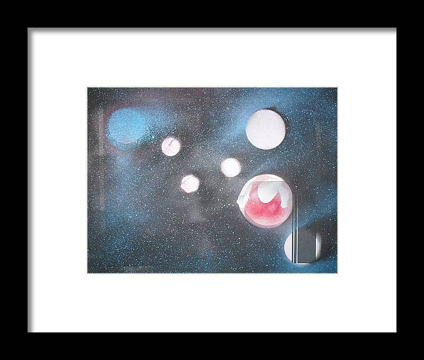 Space Art Planets Framed Print featuring the painting Planet Cripton by Troix Johnson