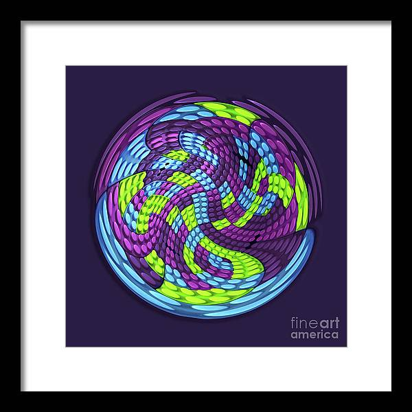 Abstract Framed Print featuring the digital art Planet by Efrat Fass