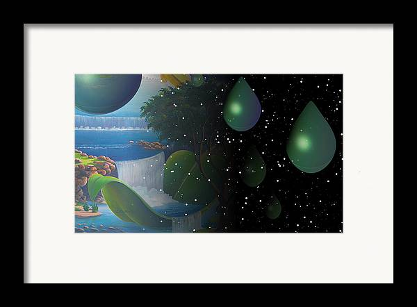 Suarrealism Framed Print featuring the painting Planet Water by Leomariano artist BRASIL