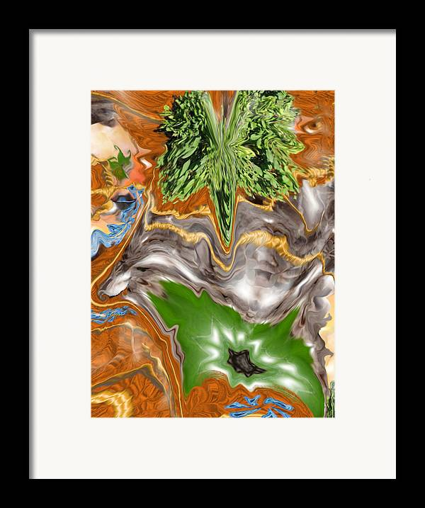 Plankton Framed Print featuring the digital art Plankton Soup by Stephanie H Johnson