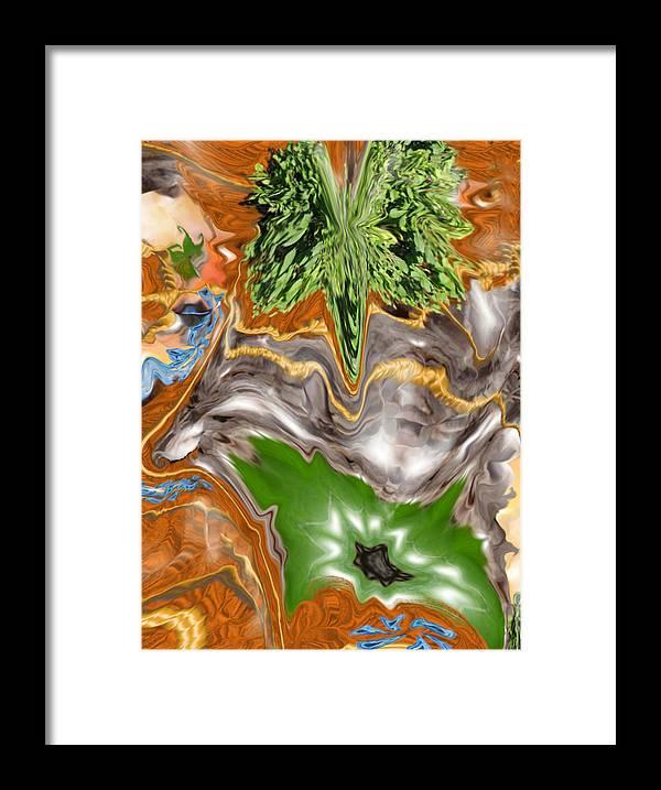 Plankton Framed Print featuring the digital art Plankton Soup by Stephanie H Johnson