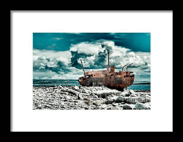 Plassey Framed Print featuring the photograph Plassey Wreck by Gabriela Insuratelu