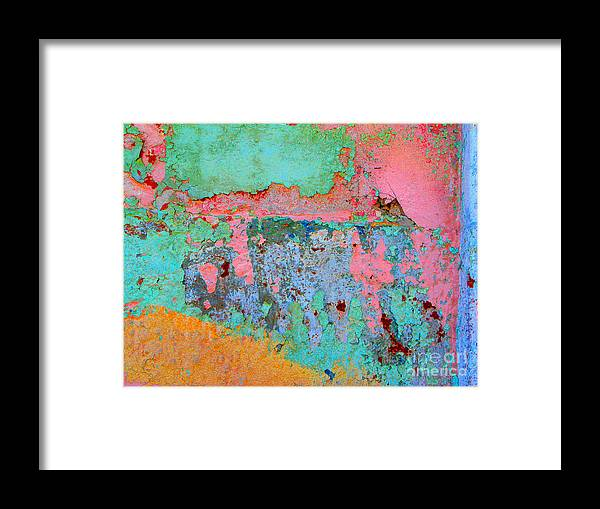 Olden Mexico Framed Print featuring the photograph Plaster Abstract 8 By Michael Fitzpatrick by Mexicolors Art Photography