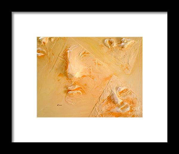 Portraits Framed Print featuring the painting Plastic Wraps by Kime Einhorn