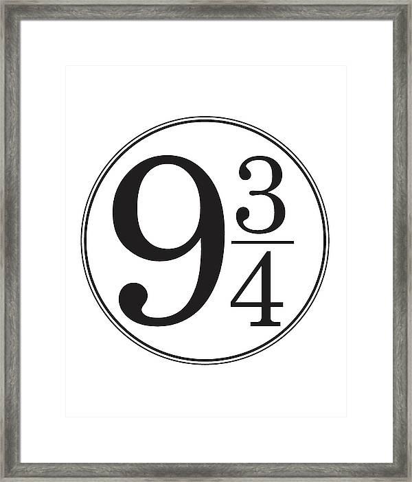 photograph regarding Platform 9 3 4 Sign Printable named System 9 And A few Quarters - Harry Potter Wall Artwork Framed Print