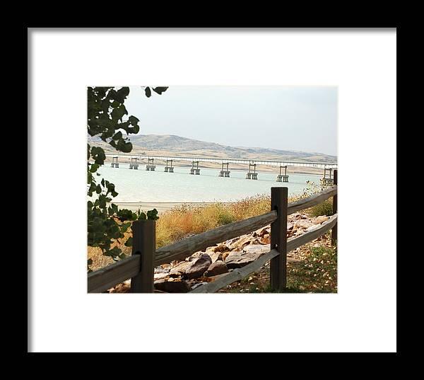 Bridge Framed Print featuring the photograph Platte-winner Bridge by Ralph Steinhauer