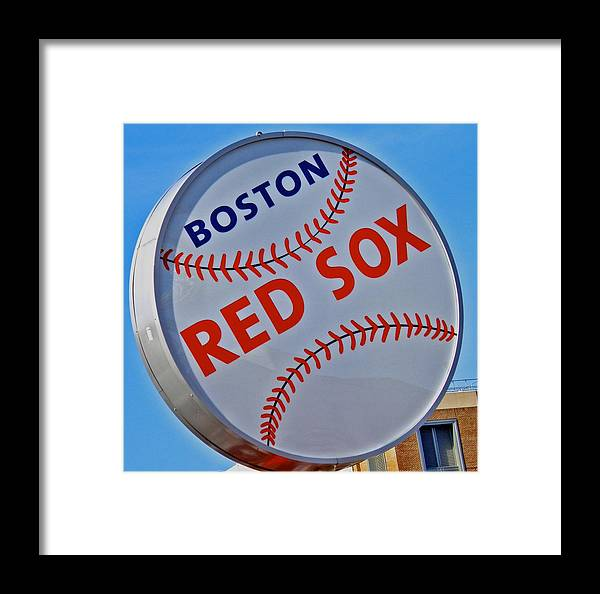 Red Sox Framed Print featuring the photograph Play Ball by Donna Shahan