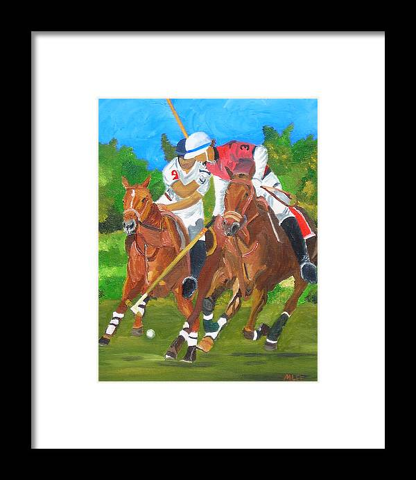 Polo Framed Print featuring the painting Play In Motion by Michael Lee