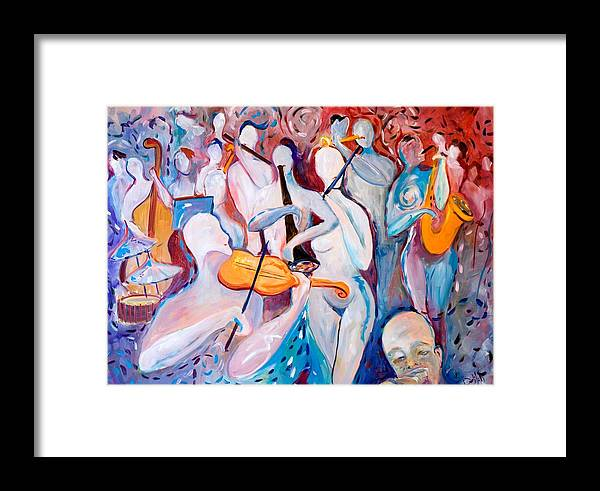 Music Framed Print featuring the painting Play The Music by Delilah Smith