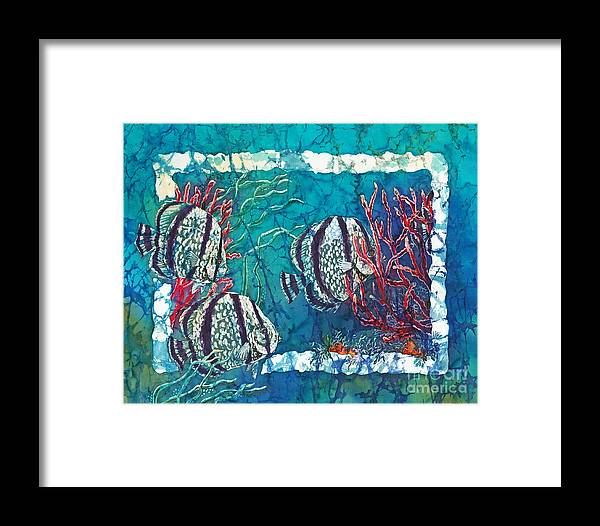 Fish Framed Print featuring the painting Playful Trio by Sue Duda