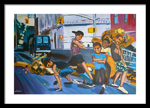 New York City Paintings Framed Print featuring the painting Playground by Wayne Pearce