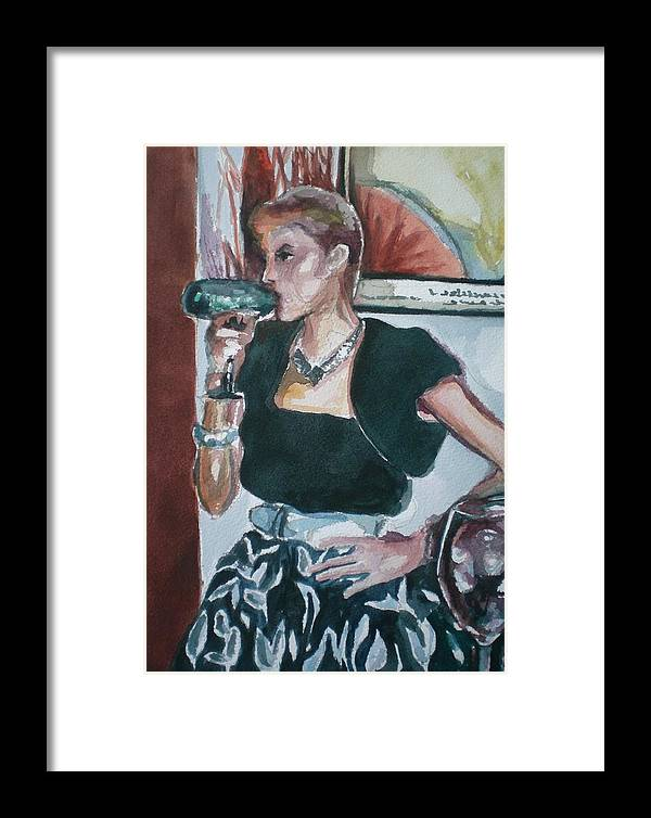 Framed Print featuring the painting Playing Dress Up by Aleksandra Buha