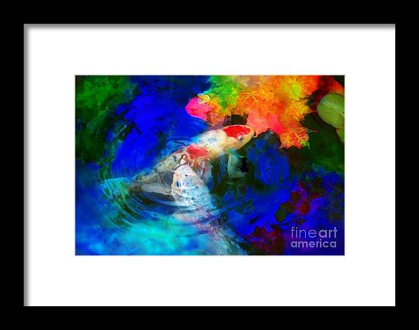 Autumn Ponds Framed Print featuring the photograph Playing With Autumn by Gina Signore