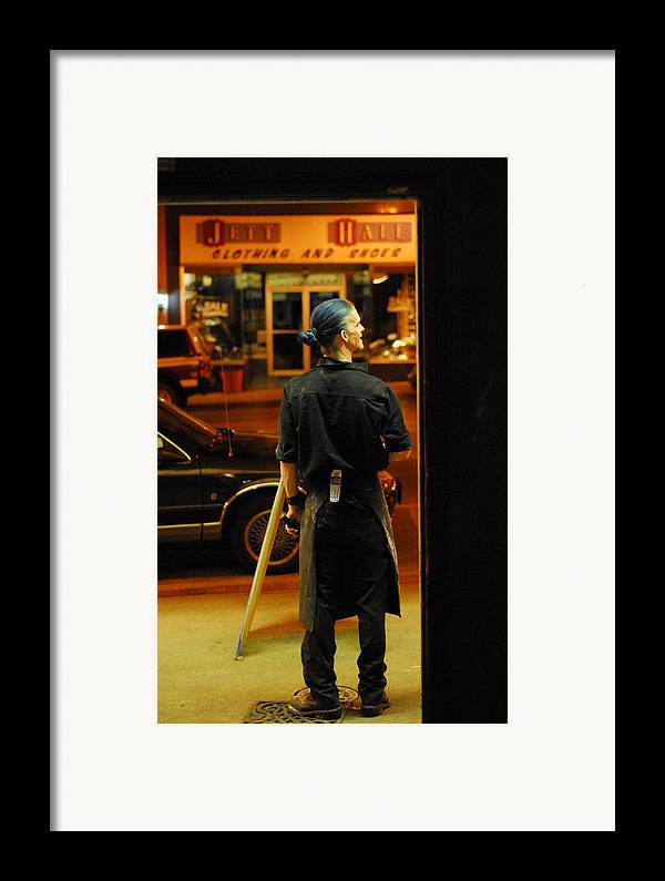 Cooking Framed Print featuring the photograph Playing With Fire 1 by Steven Crown