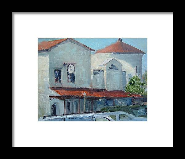 Beach City Framed Print featuring the painting Plaza Del Mar by Bryan Alexander