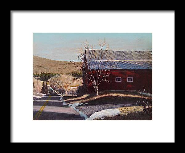 Barn Framed Print featuring the painting Pleasant Valley by James Townsend