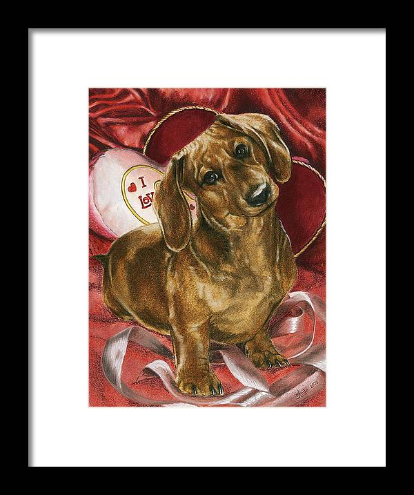Purebred Framed Print featuring the mixed media Please Be Mine by Barbara Keith