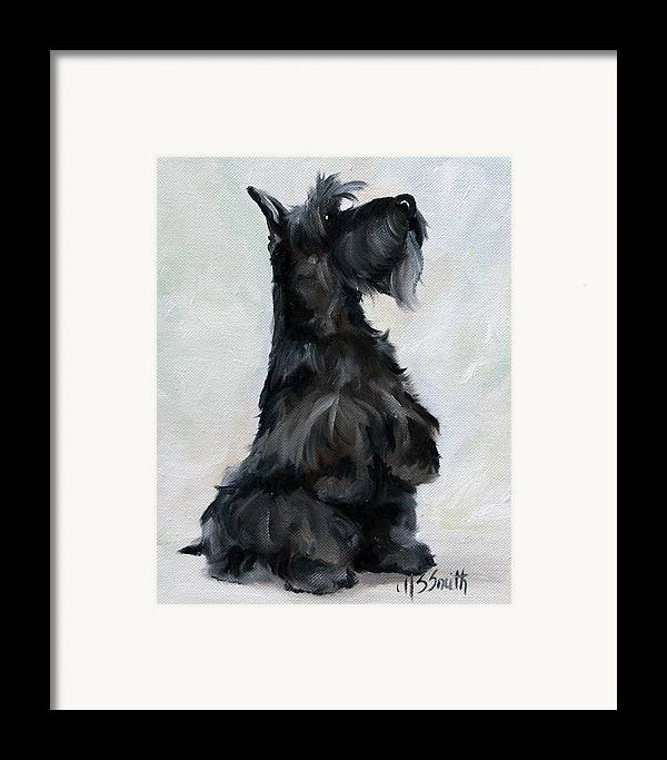 Art Framed Print featuring the painting Please by Mary Sparrow