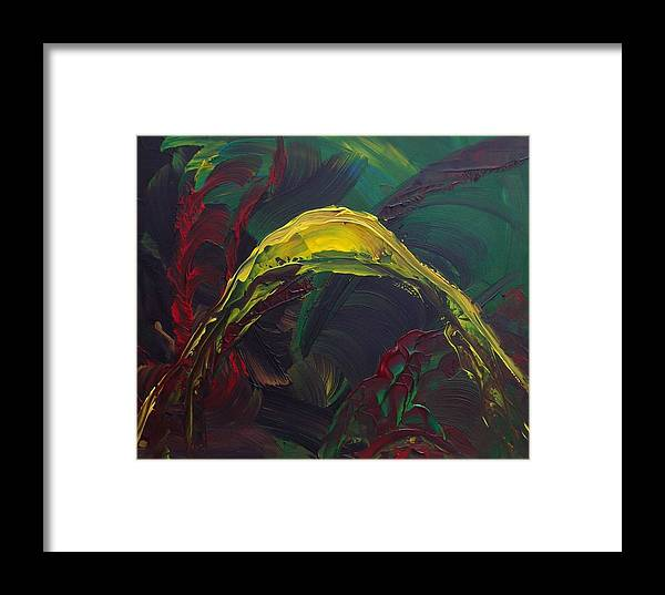 Abstract Framed Print featuring the painting Pleasure Past by Karen L Christophersen