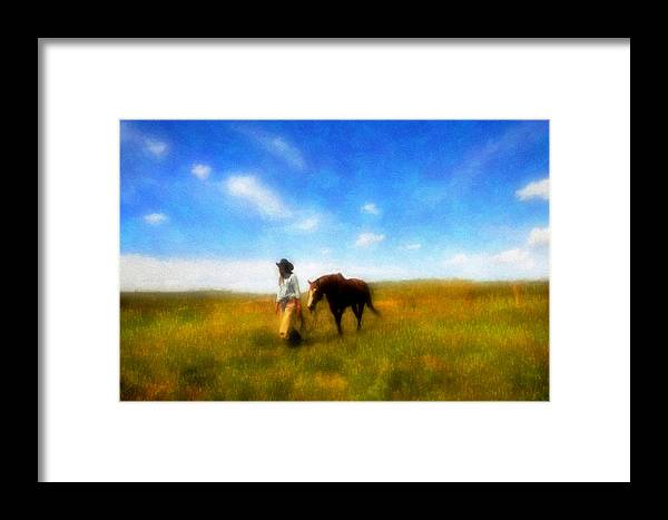 Fine Art Framed Print featuring the photograph Pleasure Pasture by Nick Sokoloff