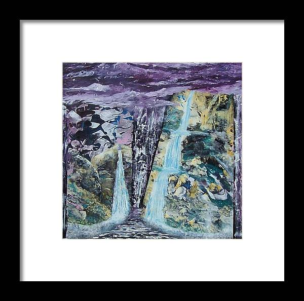 Surrealism Framed Print featuring the painting Plein Air Dreams by Tony Rodriguez