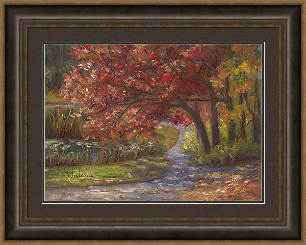 Plein Air - Forest Park in the Fall by Lucie Bilodeau