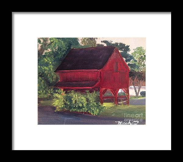 Medford Framed Print featuring the painting Plein Aire 7-12-16 by Sheila Mashaw