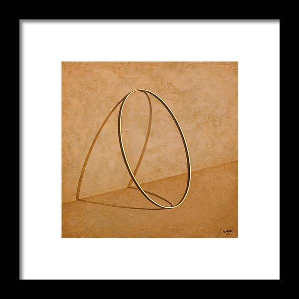 Wall Framed Print featuring the painting Plenty Of Emptiness by Horacio Cardozo