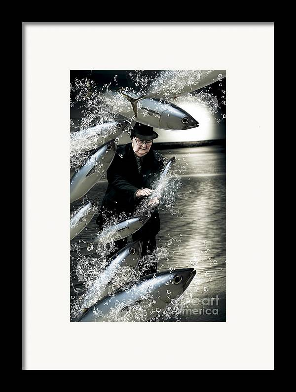 Male Framed Print featuring the photograph Plenty Of Fish In The Sea by Jorgo Photography - Wall Art Gallery