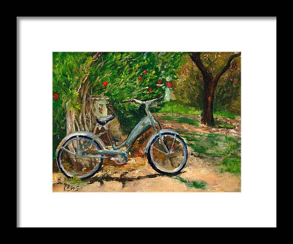 Plein Air Framed Print featuring the painting Plien air afternoon by Chris Neil Smith