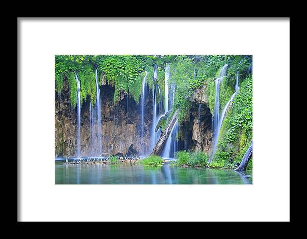 Plitvice Framed Print featuring the photograph Plitvice by Elisa Locci