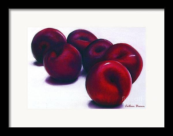 Still Life Framed Print featuring the painting Plum Crazy by Colleen Brown