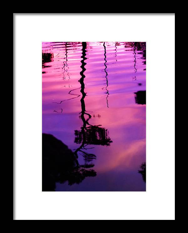 Sunset Framed Print featuring the photograph Plum Mirror by Florene Welebny