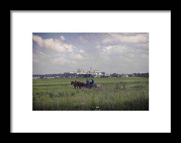 Ukraine Framed Print featuring the photograph Pochaiv Monastery Ukraine by Yuri Lev