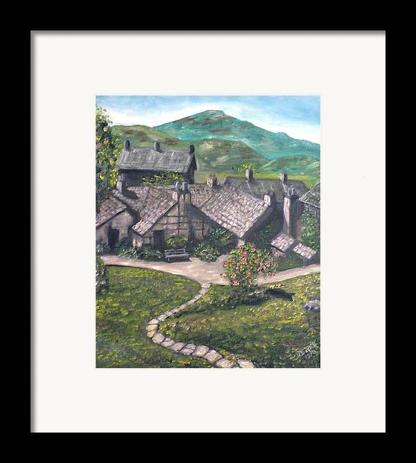 Pastoral Cottages Framed Print featuring the painting Poet by Dan Bozich