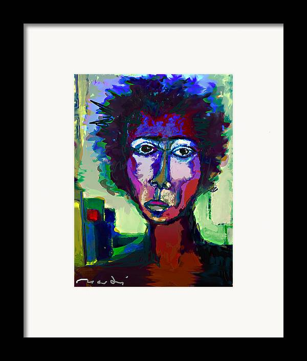 Painting Framed Print featuring the painting Poet by Noredin Morgan