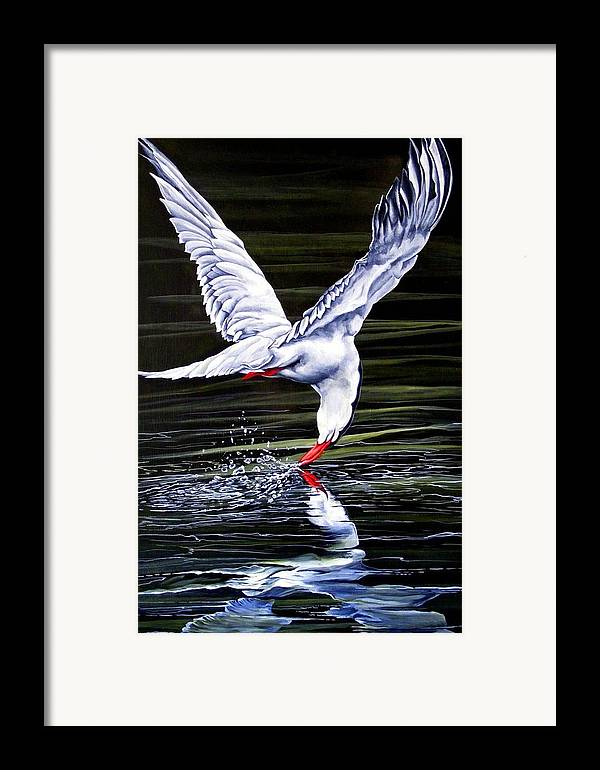 Bird Framed Print featuring the painting Poetic Motion by Donald Dean
