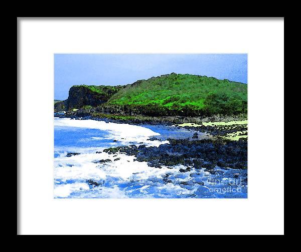 Pohaku Beach Framed Print featuring the photograph Pohaku Mauliuli Beach by James Temple